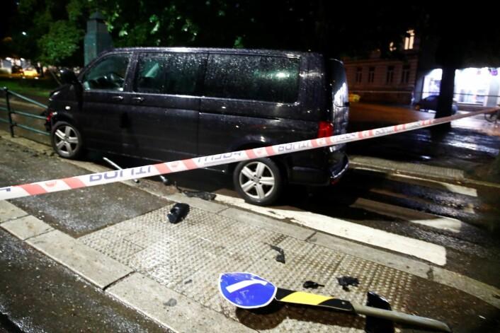 En sjåfør omkom i fjor etter at bilen kjørte inn i et gjerde på Skillebekk. Foto: Terje Pedersen / NTB scanpix