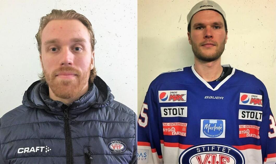 Henrik Olsén og Gustaf Berling er to nye og friske krefter på Vålerenga hockey. Foto: Katarina Louise Nordam