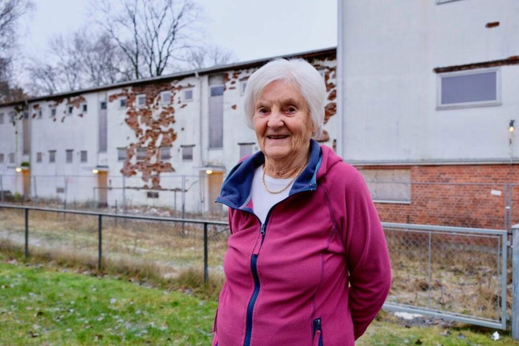 Unni Grethe Hestvedt er fornøyd med de nye byggeplanene i Thulstrups gate 4. Foto: Emilie Pascale