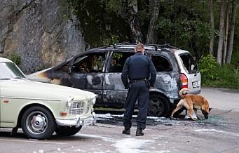 Bil brant på Vestli. Politiet etterforsker brannen