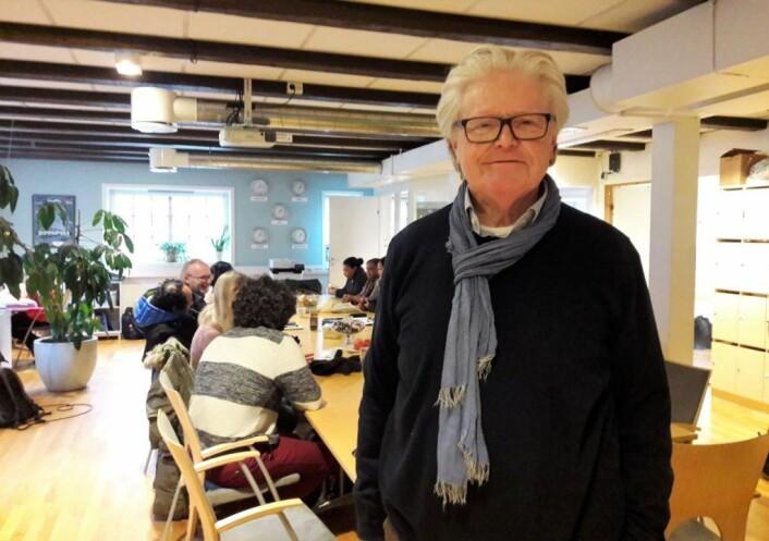 Biskop Tor B. Jørgensen er leder for Mennesker i Limbo. Han gikk av som biskop i Sør-Hålogaland høsten 2019, og ble samme høst vigslet som biskop i Lutheran Church in Great Britain. Han er kjent for sitt samfunnsengasjemang. Foto: Anders Høilund
