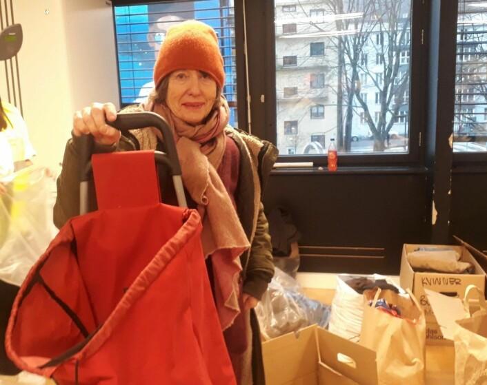 Anna Lise Skaar kom helt fra Nesodden for å gi det hun kunne. Foto: Emilie Pascale