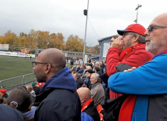 Til våren kan endelig Skeid-tilhengerne bite negler på egen stadion igjen. Da får de se hvordan laget fungerer for den nye hovedtreneren Gard Holme. Foto: Anders Høilund