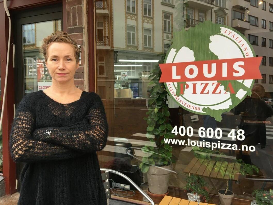 Live Glesne Kjølstad og Louis Pizza ansatte en flyktning med både skattekort og norsk personnummer. Likevel har påtalmynigheten tatt ut tiltale for bruk av ulovlig arbeidskraft. Foto: Vegard Velle