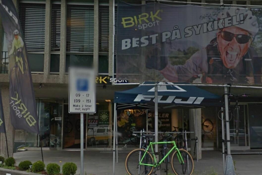 Birk sport er gått konkurs og sykkelmiljøet har tapt en viktig spesialforretning. Foto: Google maps