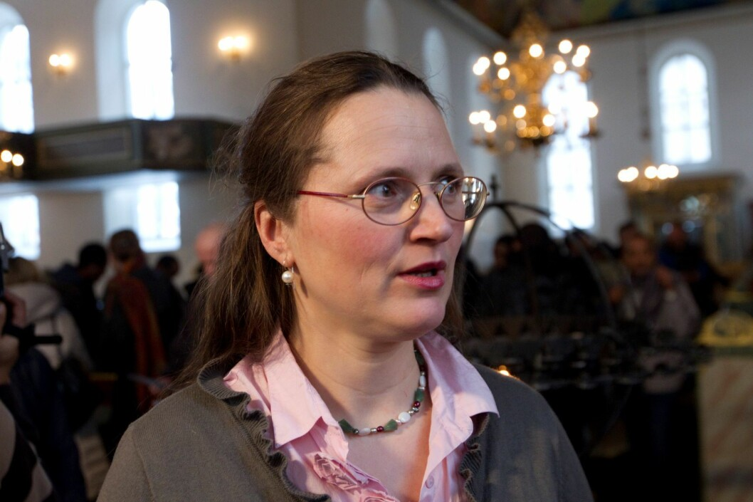 Advokat Cecilie Schjatvet representerte søsknene i rettsaken mot barnevernet. Foto: Terje Bendiksby / Scanpix