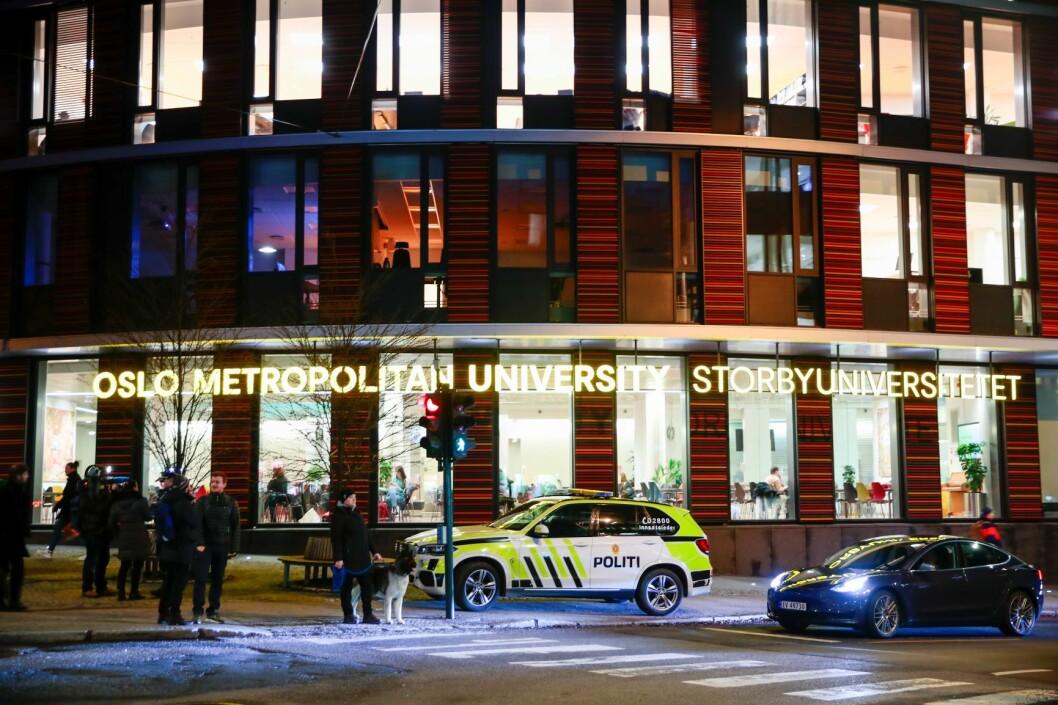 En mann ble torsdag ranet av flere personer i et parkeringshus ved Oslo Met. Foto: Håkon Mosvold Larsen / NTB scanpix