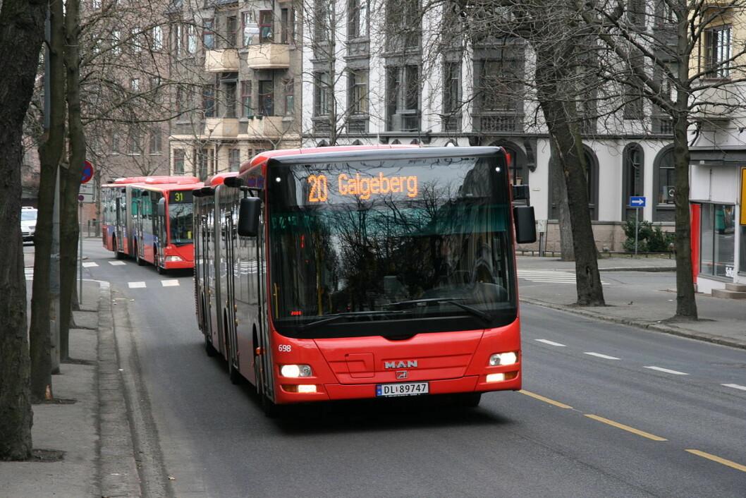 Den savnete kvinnen ble sist sett på 20-bussen på Carl Berner. Illustrasjonsfoto: Kjetil Ree / Wikipedia