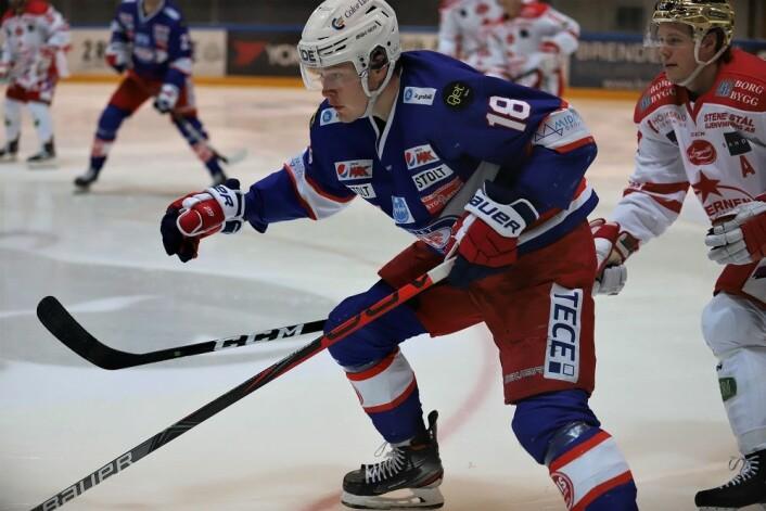 Thomas Olsen jobbet som vanlig hardt. Foto: André Kjernsli