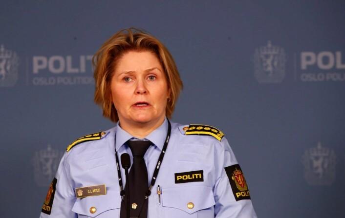 � Vi har fortsatt ikke identifisert skytteren, og alle observasjoner og opplysninger som kan bidra til dette, er viktig for politiet, sier Grete Lien Metlid. Foto: Terje Pedersen / NTB scanpix