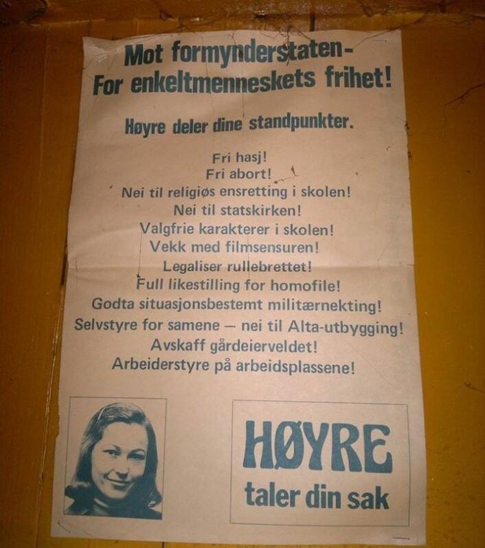 Høyres budskap om individets frihet fikk også en runde i Gateavisas satirekvern. Foto: Audun Engh