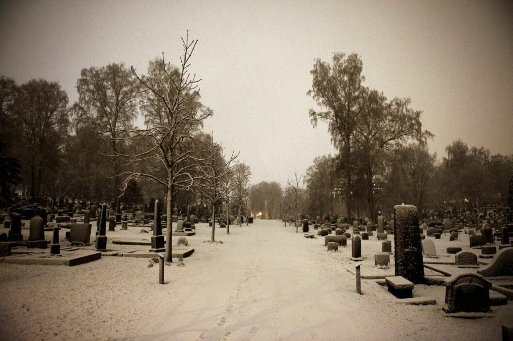 En lang rekke historiske nordmenn er gravlagt på Vår Frelsers gravlund. Foto: Fredrik Varfjell / Scanpix