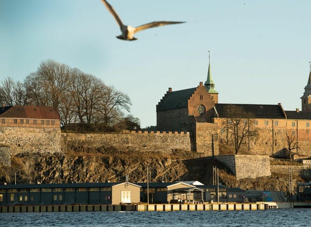 Akershusutstikkeren er en del av kaianlegget som strekker seg langs Akershus festning på østsiden av Pipervika. Foto: Oslo Havn / Oslo kommune
