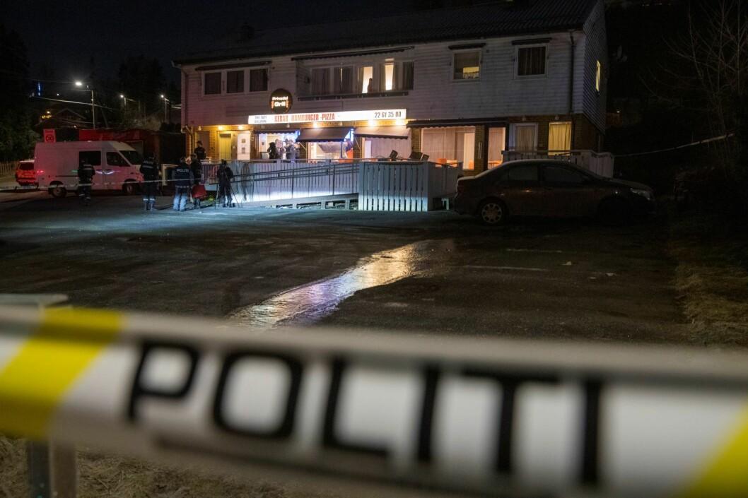 En mann i 20-årene ble skutt og drept i Prinsdal fredag kveld. Tre unge menn er så langt siktet i saken. Foto: Terje Pedersen / NTB scanpix