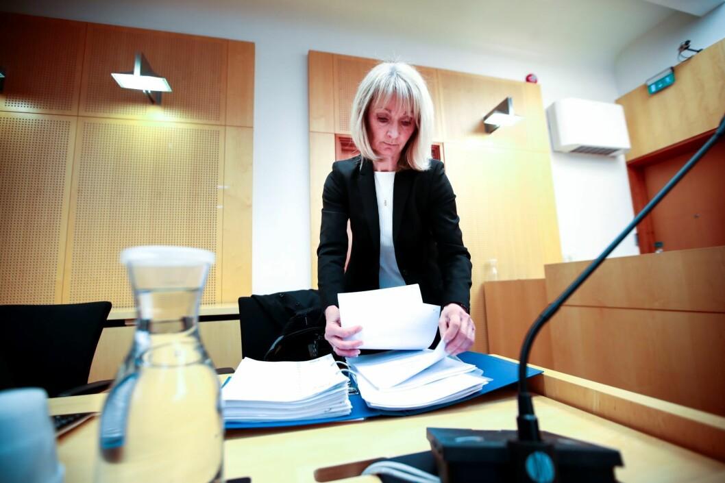 Politiadvokat Hilde Strand skal føre saken mot den tidligere medielederen som er tiltalt for å ha forgrepet seg på ni kvinner. Foto: Lise Åserud / NTB scanpix