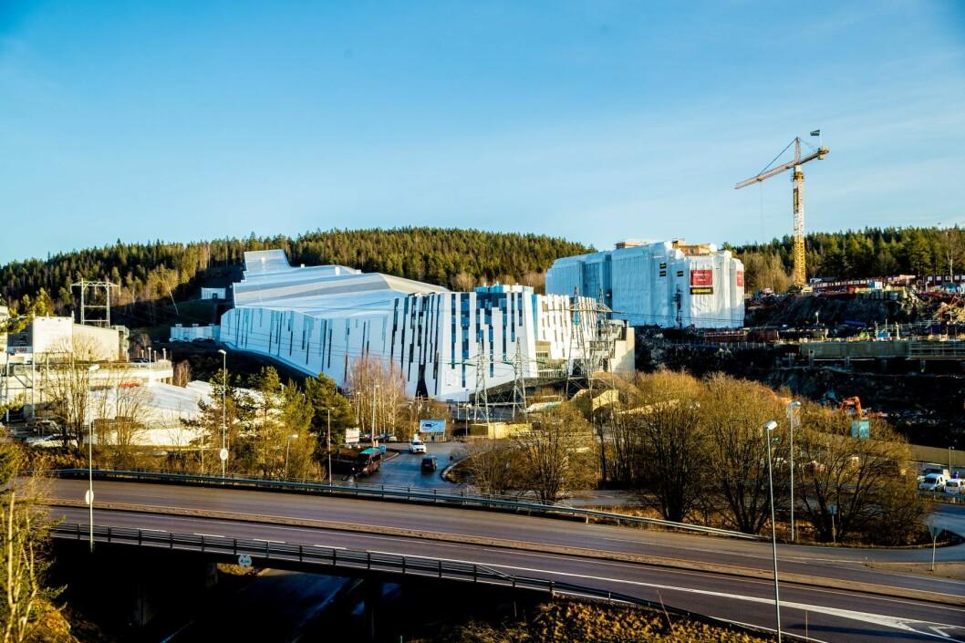 Norges første innendørs skiarena, Snø Oslo, står snart ferdig rett over Oslo-grensa, i Lørenskog. Foto: Stian Lysberg Solum / NTB scanpix