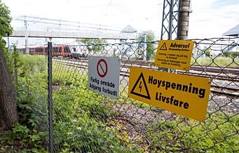 Etter Filipstad-dødsfallet: Bane Nor Må vurdere risikoen for klatring på tog