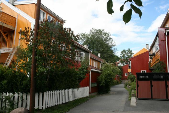 Rodeløkka er et sjarmerende område med tett bebyggelse. Foto: Wikipedia / GAD