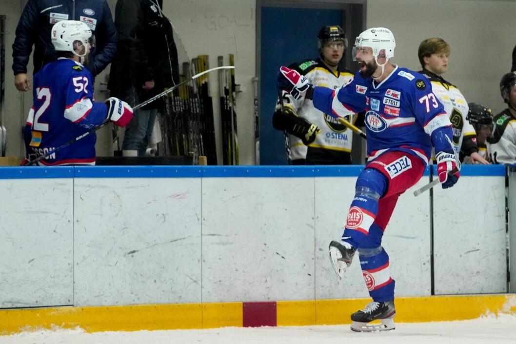 Vålerengas Villiam Strøm jubler for lagets 1-1-scoring under forrige kamp, som Stavanger vant hårfint. Foto: Fredrik Hagen / NTB scanpix