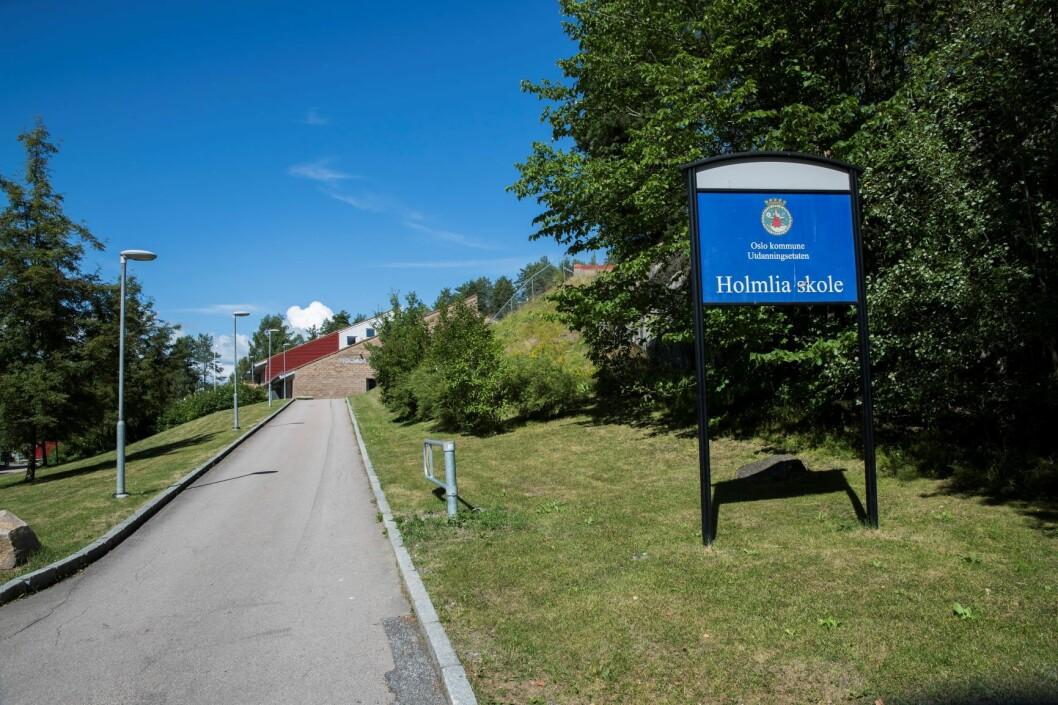 Voldsepisoden skjedde ved Holmlia skole i Oslo. Arkivfoto: Berit Roald / NTB scanpix