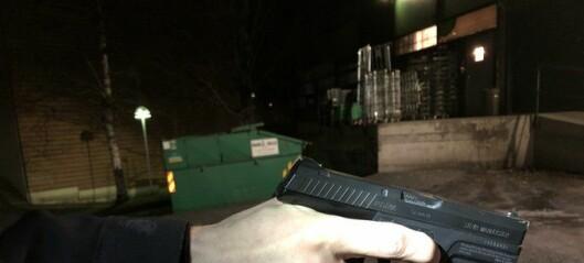 Denne gasspistolen ble beslaglagt fra mindreårig gutt på Trosterud: - Ser ut som et ekte våpen, sier politiet