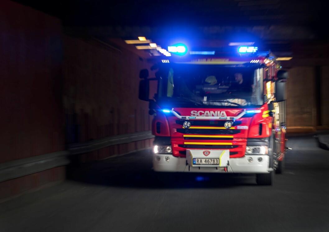 Oslo brann- og redningsetat rykket ut til brannstedet. Foto: Gorm Kallestad / NTB scanpix
