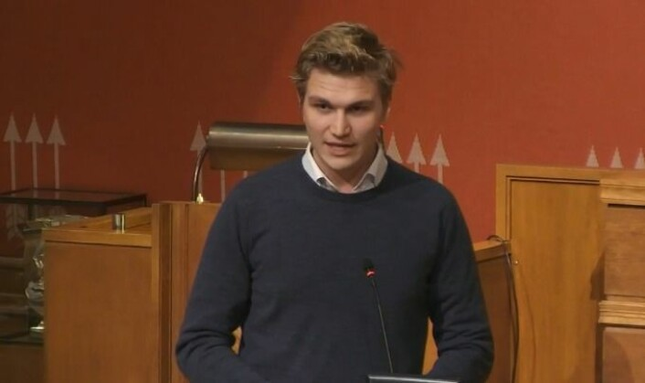 — Hva er det kommunen eller byrådet er redd for, spurte Nicolai Øyen Langfeldt (H). Foto: Oslo kommune-tv