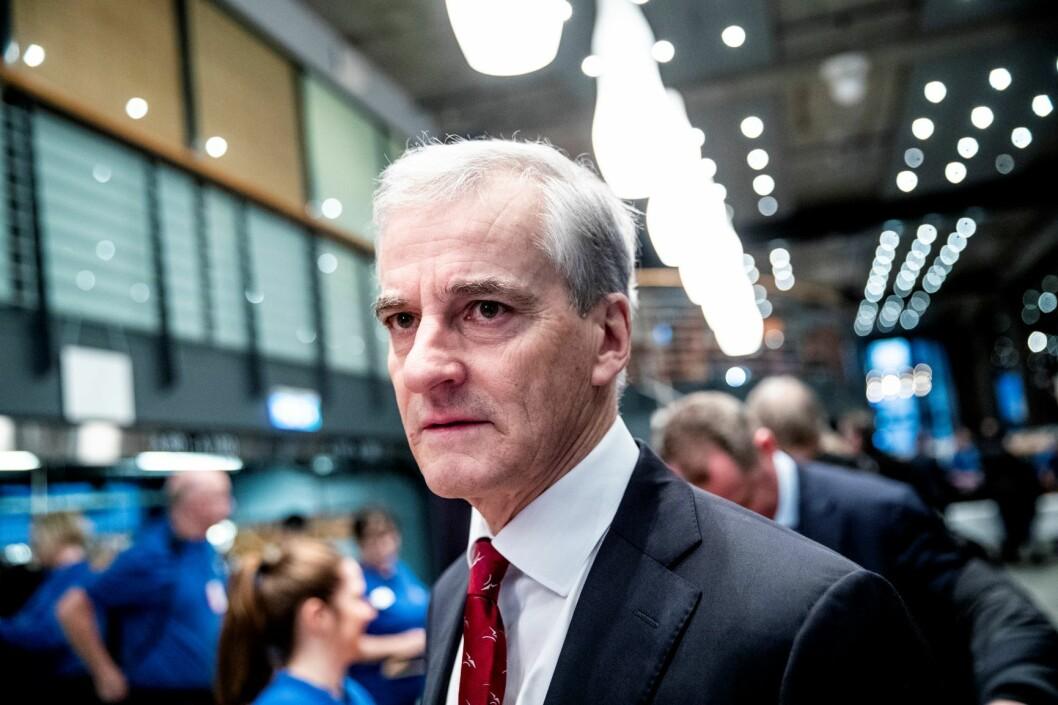 Ap-leder Jonas Gahr Støre ble tatt i billettkontroll på T-banen i Oslo torsdag morgen. Foto: Stian Lysberg Solum / NTB scanpix