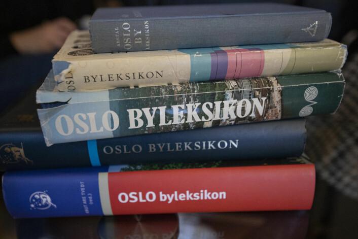 Siste utgave av Oslo byleksikon på papir kom ut i 2010. Foto: Olav Helland