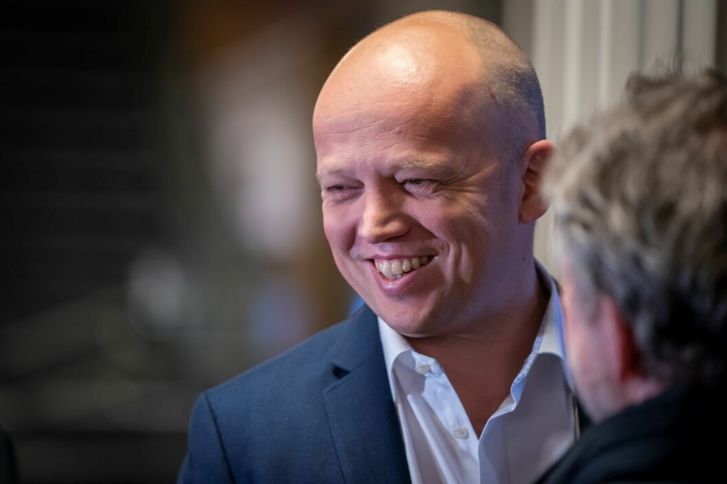 Sp-leder Trygve Slagsvold Vedum kan notere seg partiets første seier i Oslo bystyre etter at bystyret onsdag gikk inn for å utsette prosessen med å legge ned Ullevål sykehus. Foto: Heiko Junge / NTB scanpix