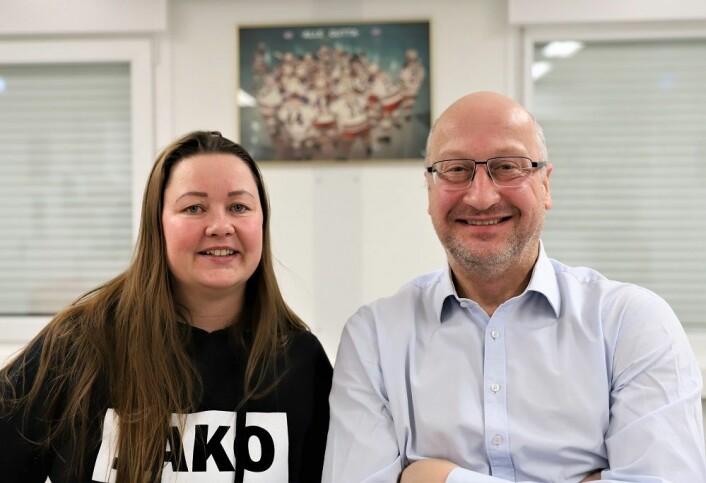 Hege Haugen og Albert Collett er bekymret for breddeidretten på nye Jordal Amfi. Foto: André Kjernsli