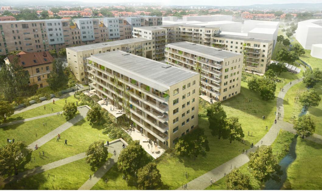 Slik skal Petersborgkvartalet på Ensjø se ut, ifølge Ferd og Skanska.
