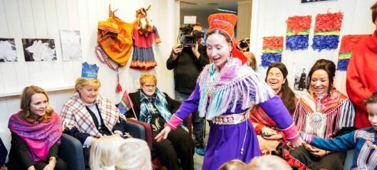 Statsministeren feiret samenes nasjonaldag med barna i Samisk barnehage på Tøyen