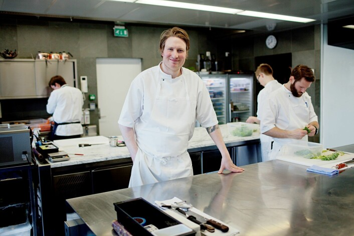 Kjøkkensjef, Esben Holmboe-Bang, fra Maaemo, har løftet opp Oslo som matdestinasjon. Foto: Stian Lysberg Solum / Scanpix