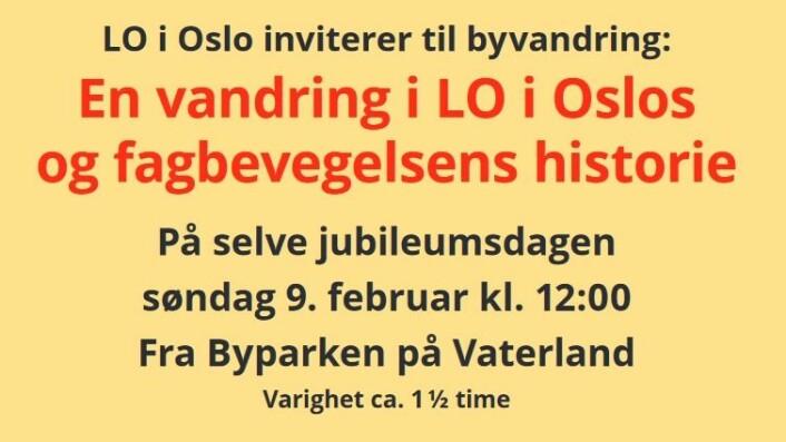 Skjermdump fra LO i Oslo.