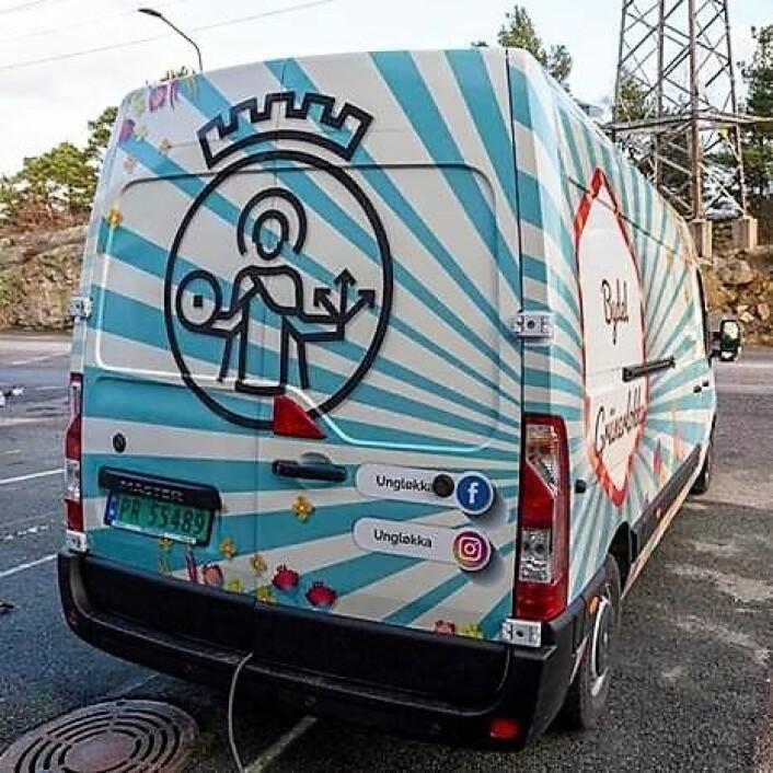Food trucken skal skape trivsel i bybildet på Løkka. Foto: Ellen Oldereid