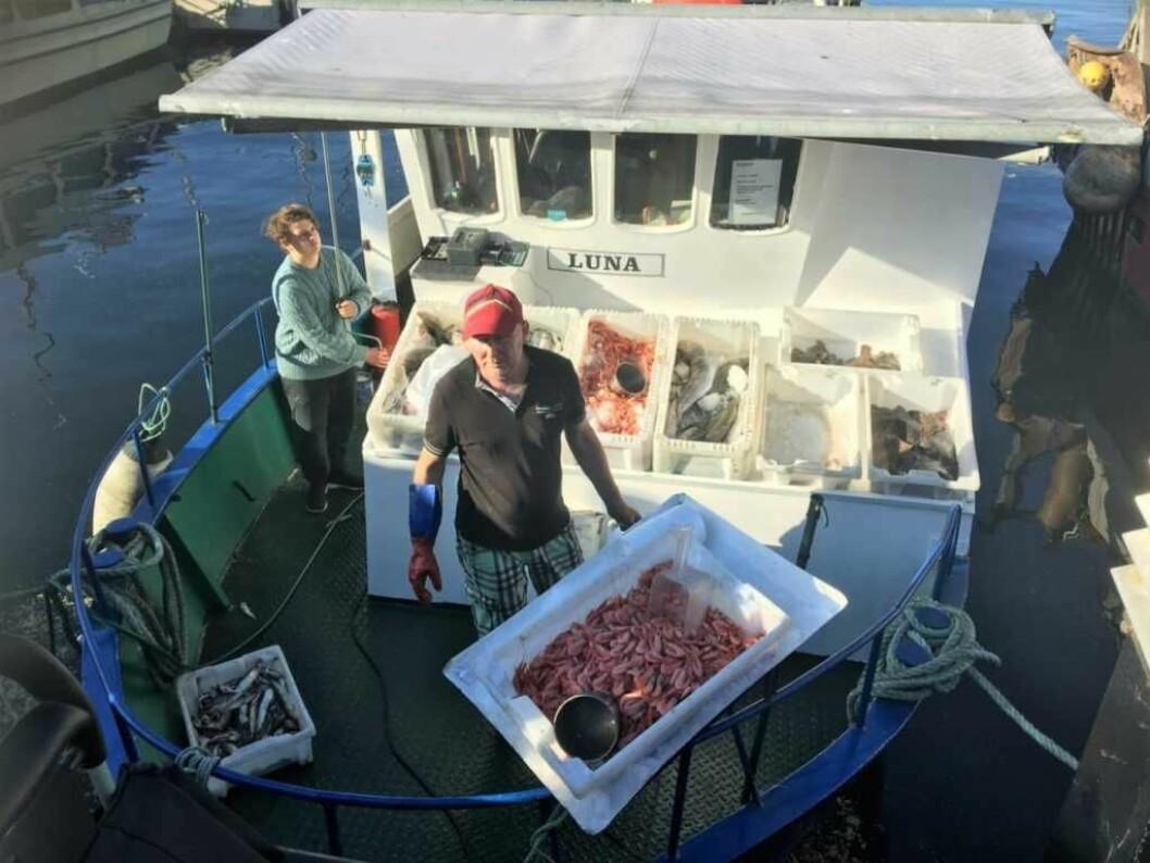 Reketråleren Luna fra Oslo må betale kaileie både ved Rådhusbrygga og i hjemhavna ved Grønlikaia. Foto: Amalie Aune Bjerkem