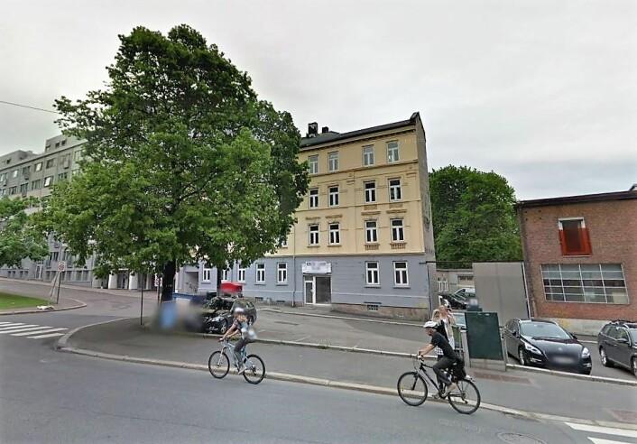 Dette treet fins ikke lenger. Der treet står, skal det nå etableres sykkelvei. Foto: Google Maps