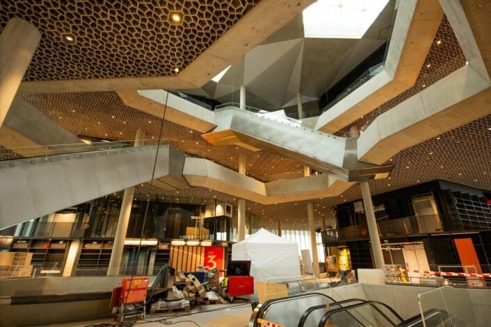 Snart er det nye biblioteket i Bjørvika klart. Foto: André Kjernsli