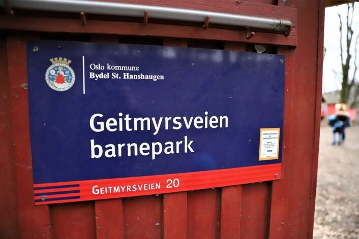 Geitmyrsveien barnepark er byens eldste barnepark, og bydel St. Hanshaugen ønsker å ruste den opp. Foto: André Kjernsli