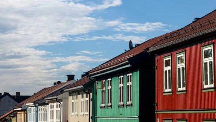 Stadig flere hus males grå, men på Vålerenga er det fargerikt og fint. Foto: Svein Nordrum / NTB Scanpix