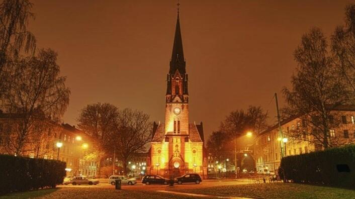 Paulus kirke holder åpent om natta for dem som trenger et varmt sted å være og tak over hodet. Foto: Den norske kirke