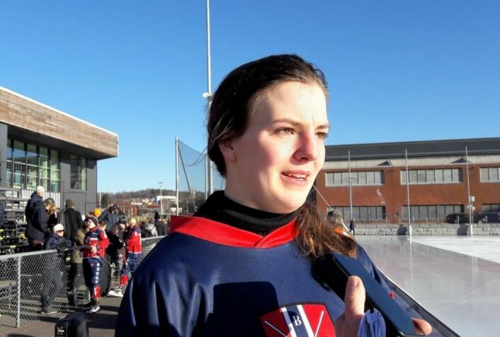 Lene Aamodt er en av to Sagene-spillere på det norske landslaget. Foto: Anders Høilund