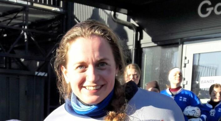 Keeper Mathilde Hveding Langmo ble matchvinner for Norge i straffeslagkonkurransen. Foto: Anders Høilund
