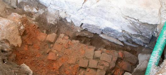 Arkeologer fant ukjent mur på Akershus festning