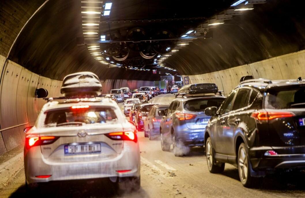 Problemer i både Operatunnelen og Vaterlandstunnelen skaper problemer i Oslo-trafikken lørdag kveld. Arkivfoto: Stian Lysberg Solum / NTB scanpix