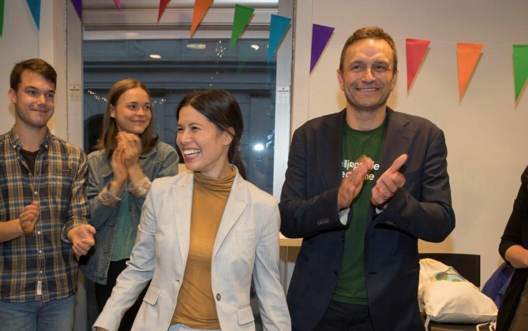 Lan Marie Berg og Arild Hermstad (til h.) kan bli MDGs første nestledere. Foto: Terje Pedersen / NTB scanpix