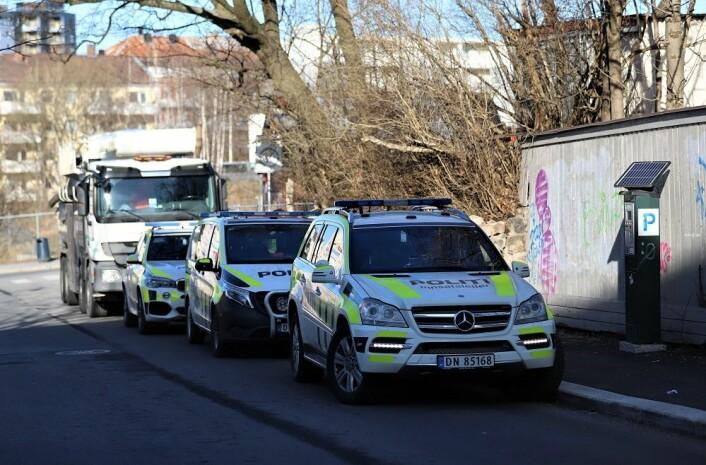 Politiet sier de kjenner til konflikten rundt demontering av Sotakiosken, og at de tar nødvendige forholdsregler i dagene fremover. Foto. André Kjernsli