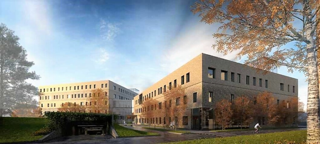 Onsdag kveld ga bystyret klarsignal for at den nye storbylegevakta ved Aker sykehus kan bygges. Illustrasjon: Omsorgsbygg / Nordic — Office of Architecture