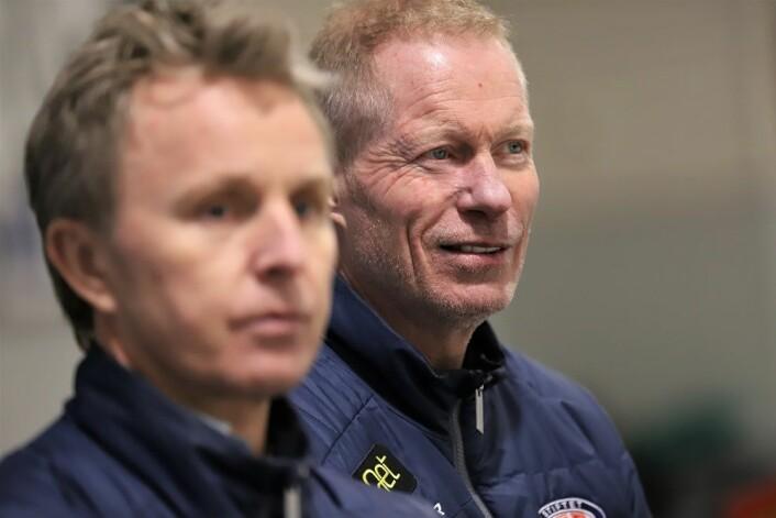 To mål på åtte sekunder får selv Roy Johansen til å smile. Foto: André Kjernsli